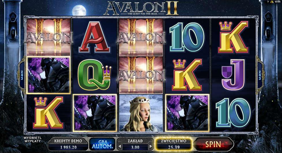 Wpłać minimalnie 40 PLN i odbierz darmowe spiny na automacie Avalon II - wygrane z darmowych spinów nie podlegają obrotowi