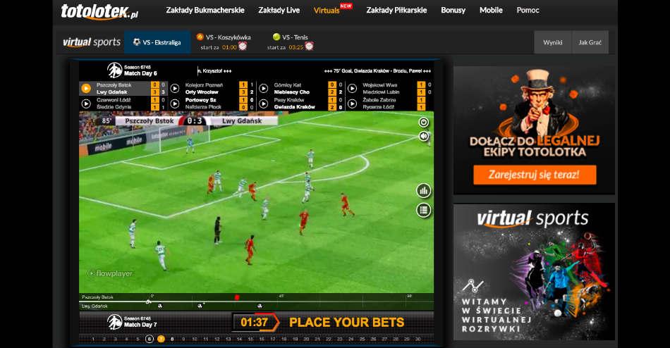 virtuals totolotek sporty wirtualne 2018